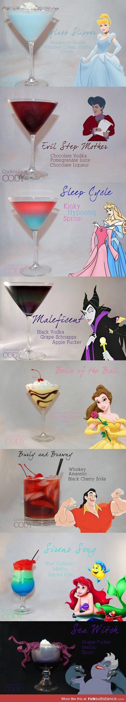 Driks de personagens da Disney